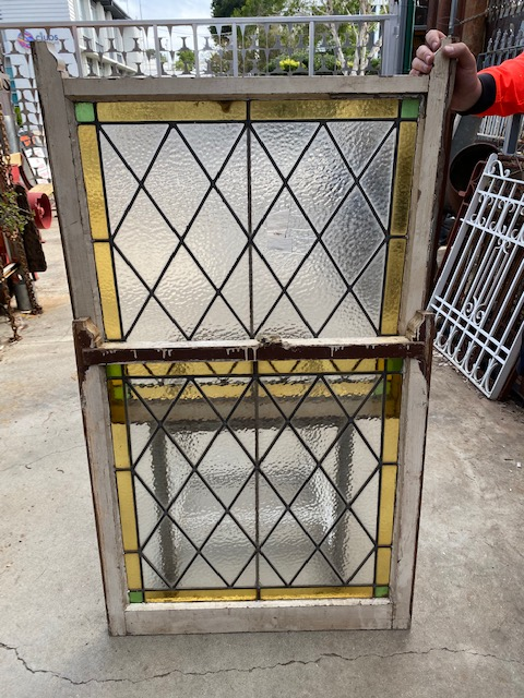 Leadlight window panel